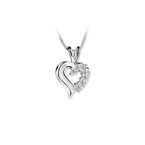 Newbridge Silverware Double Heart Pendant Clear
